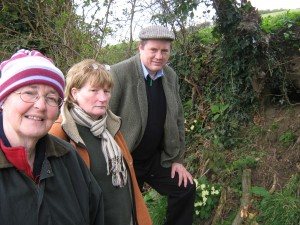 Anti-Badger Cull Campaigners at the site of a Badger Sett in South down